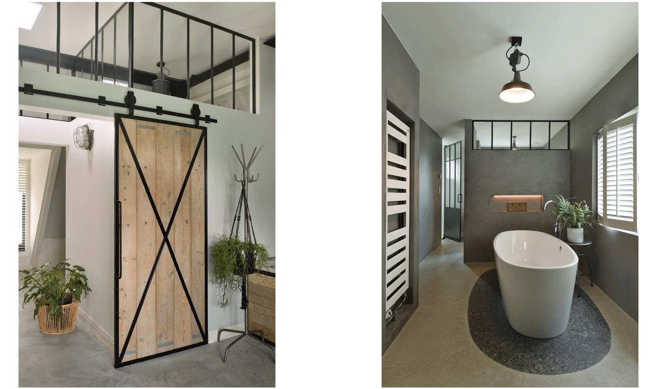 Stalen binnenramen, Raam op maat, Roomdivider, Industrieel interieur, minimalistisch design