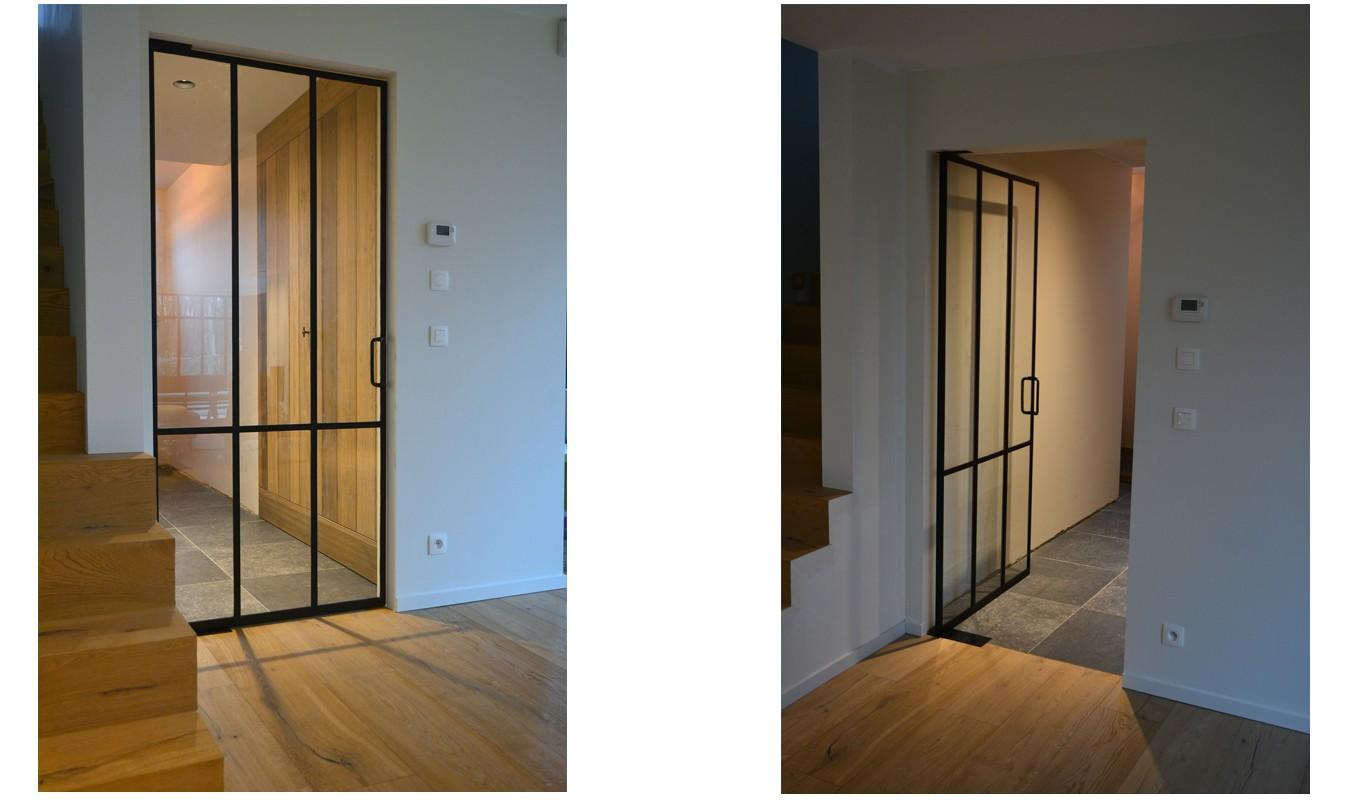 Minimalistisch design, Stalen deuren gerealiseerd door Stalen Deuren Huys