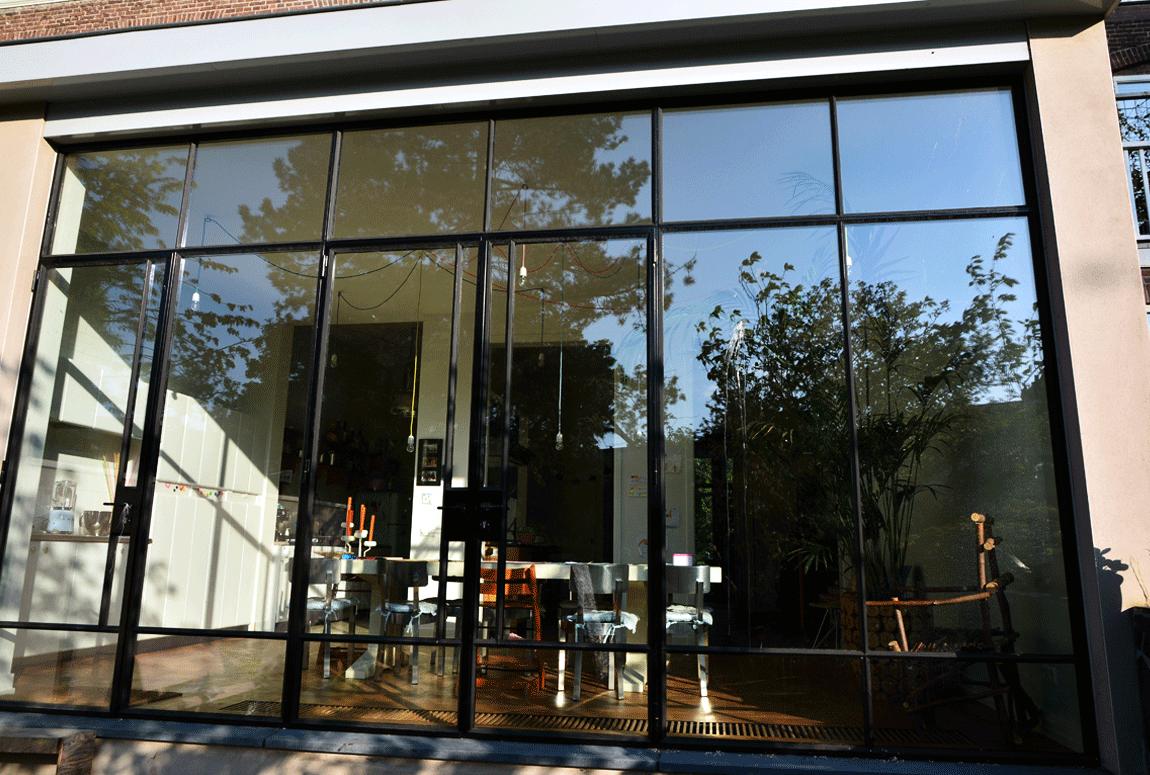 Haarlem, Stalen buitendeuren, Pui, Stalen pui, Stalen deur