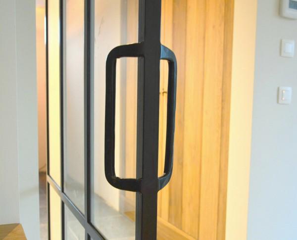 Taatsdeur, Mechelen, Stalen taatsdeur, Stalen deur, Moderne deur, Moderne taatsdeur, Staal met glas