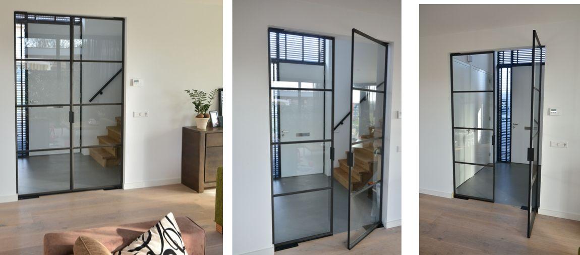 dubbele stalen taatsdeur gerealiseerd door StalenDeurenHuys - stalen deuren