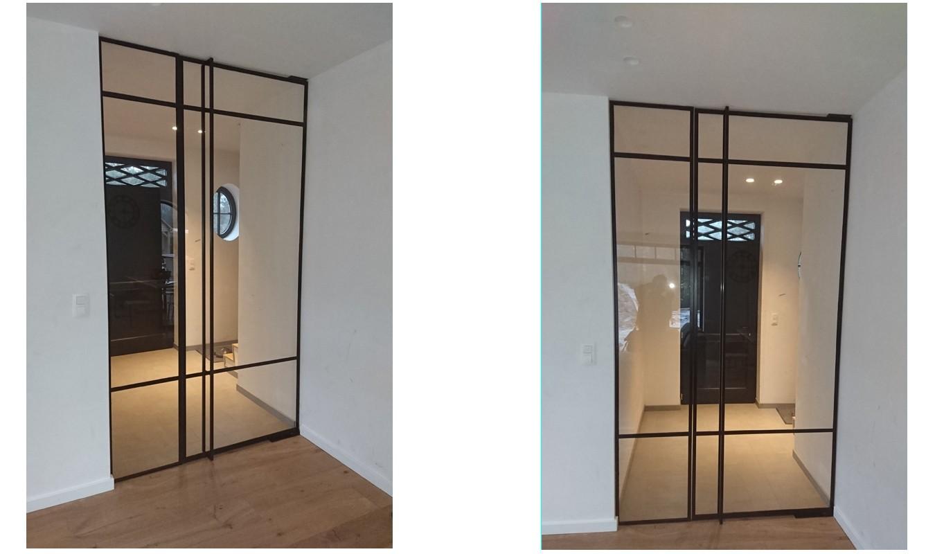 Pivotdeur in Mol, Stalen taatsdeur, Stalen deuren in Mol op maat gerealiseerd door Stalen Deuren Huys
