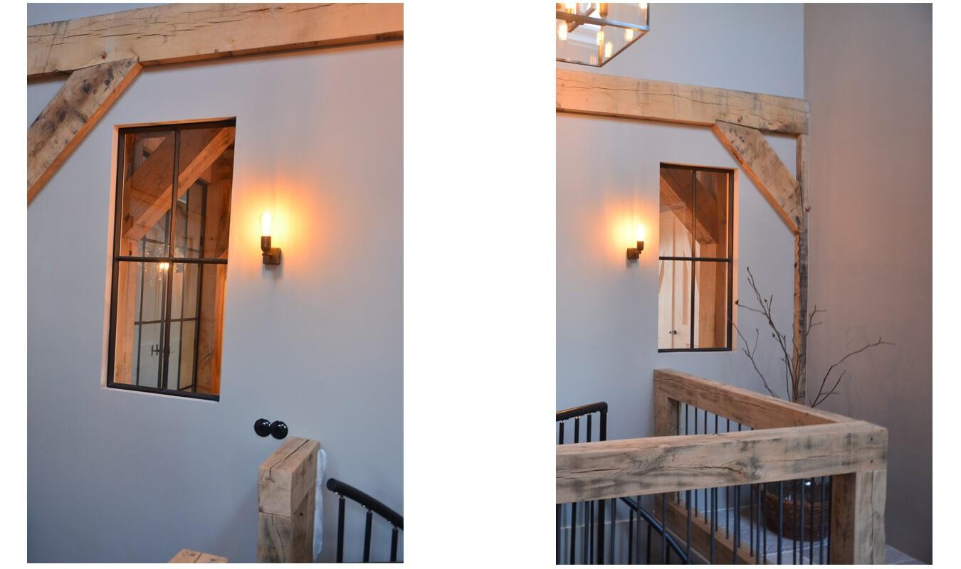 Stalen ramen in landelijk interieur bij een bekende nederlander