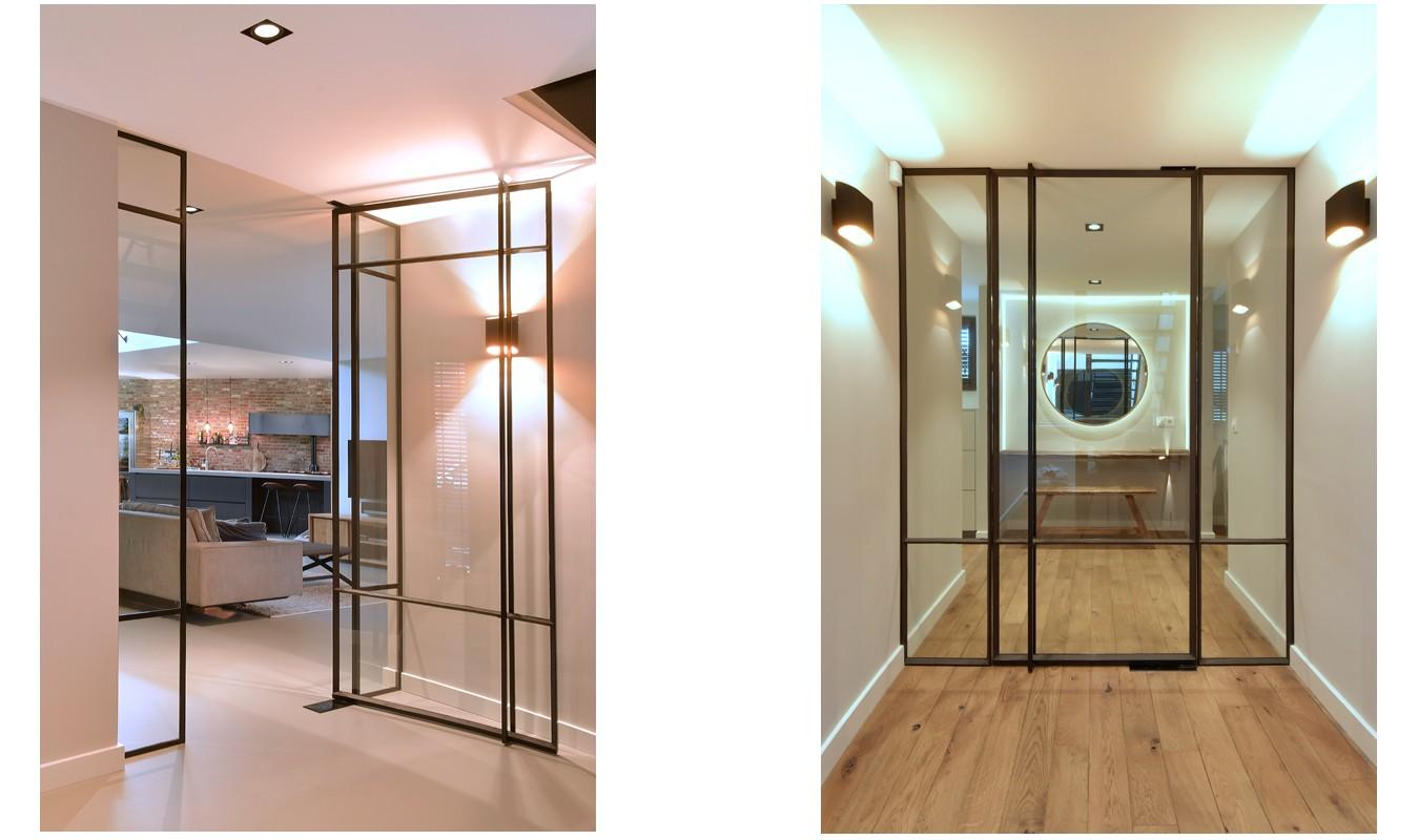 StalenDeurenHuys, Stalen deur met glas, Stalen deuren, Taatsdeuren, Binnendeur met glas, Deur met glas