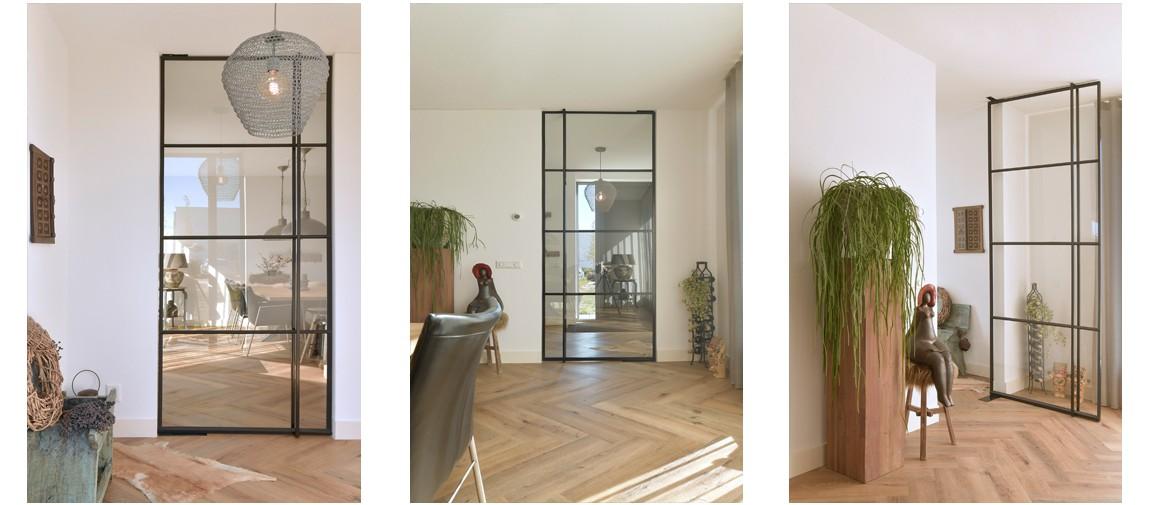 StalenDeurenHuys, Staal, Stalen deuren, Binnendeur met glas, Stoere deur, Industriele deur