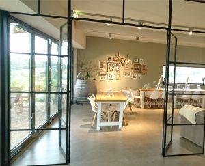Binnendeur met glas, Stalendeurenhuys, Stalen deuren, Scharnierdeur