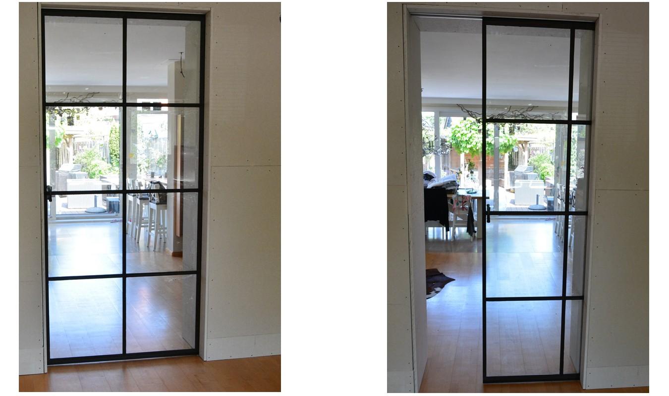Glazen schuifdeur, Stalen deur, schuifdeur, stalen deuren, stalendeurenhuys