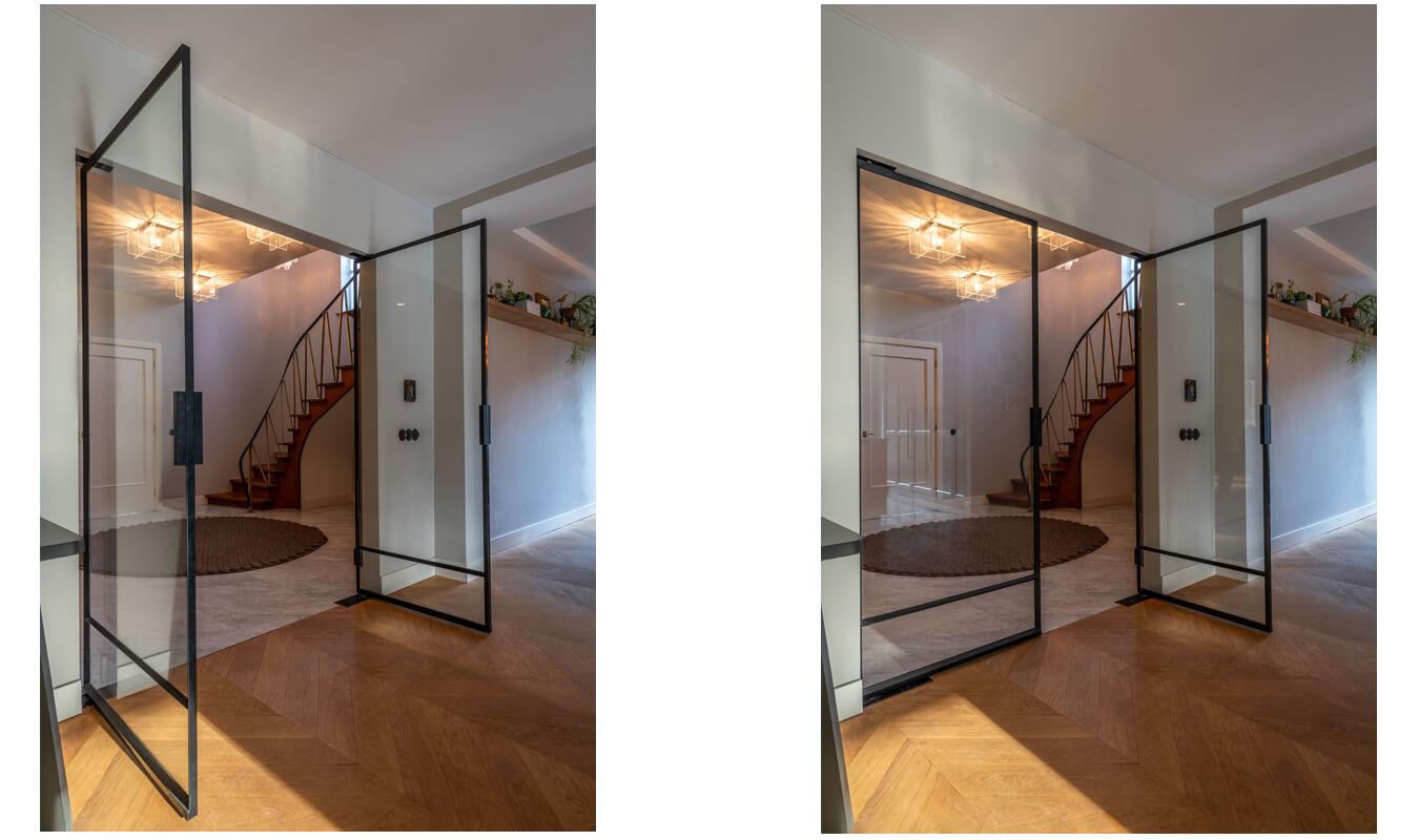 Dubbele stalen binnendeuren, project Laren, Villa, Stalendeurenhuys