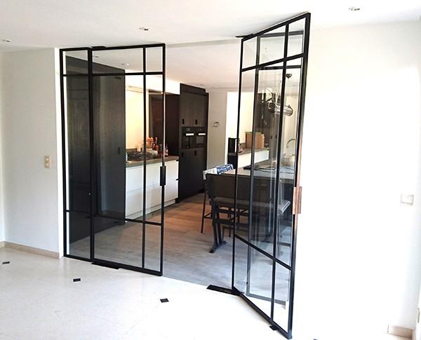 Stalen taatsdeuren, StalenDeurenHuys, Stalen deuren, Stalen binnendeuren, glazen deuren, stalen deur