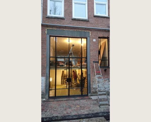 stalen buitendeur, project Rotterdam, realisatie StalenDeurenHuys