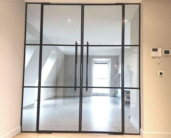 Dubbele stalen taatsdeuren, stalen deuren in Eibergen gerealiseerd door Stalen Deuren Huys