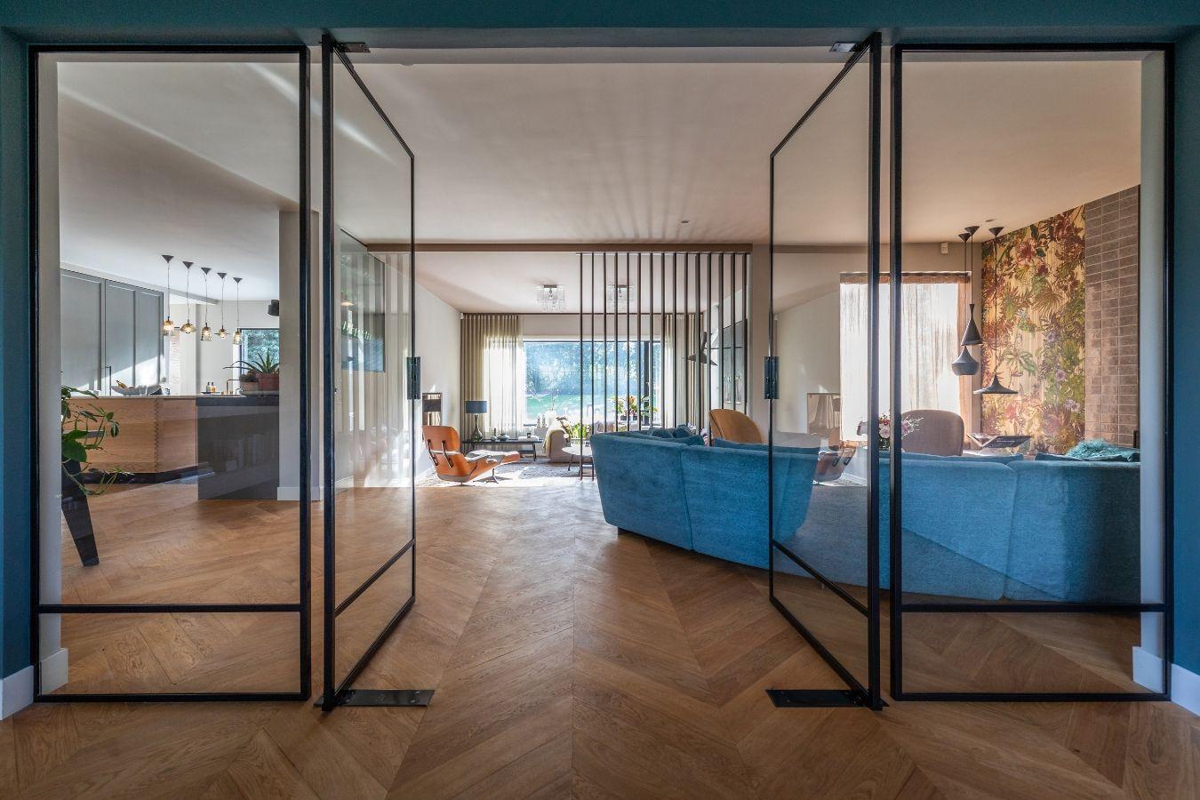 Stalen binnen pui, binnendeuren, project Laren, Stalen Deuren Huys