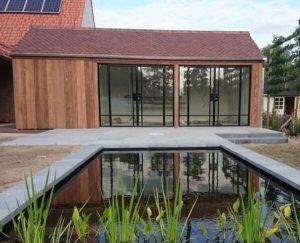 Stalen buitendeuren - Tuinhuis - project lokeren - Stalen Deuren Huys