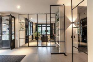 taatsdeur, dubbele stalen taatsdeuren, oude tv productie pand vernieuwt in nieuwe villa, Hilversum, realisatie door StalenDeurenHuys