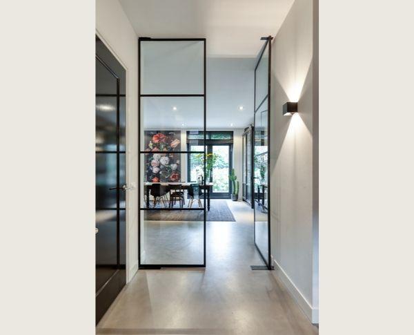 dubbele stalen taatsdeuren, project hilversum, stalen deuren op maat gerealiseerd door Stalen Deuren Huys