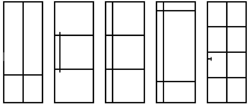 standaard stalen deuren - 5 standaard stalen deuren modellen