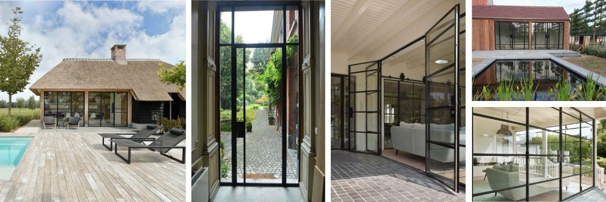 stalen buitendeuren met dubbel glas - StalenDeurenHuys