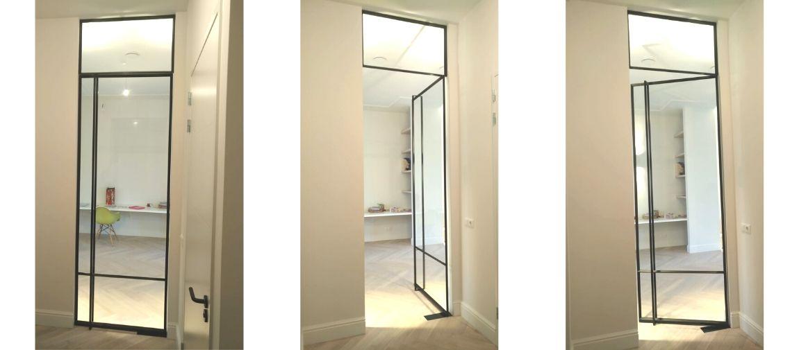 Stalen taatsdeur in Vught met bovenlicht