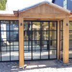 Stalen deuren met glas in Restaurant het Ruiterhuys - stalen kozijnen in restaurant, StalenDeurenhuys