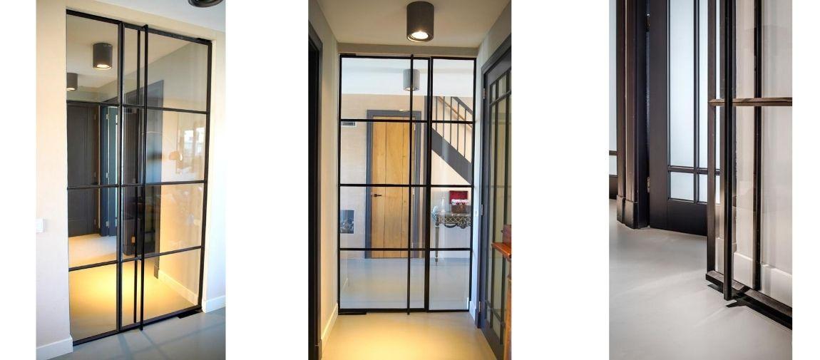 Stalen binnendeur in woning Carolien Spoor - Binnendeur van staal - StalenDeurenHuys - Taatsdeur