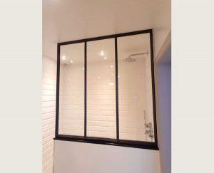 stalen douche raam, stalen ramen, inloopdouche met staal raam