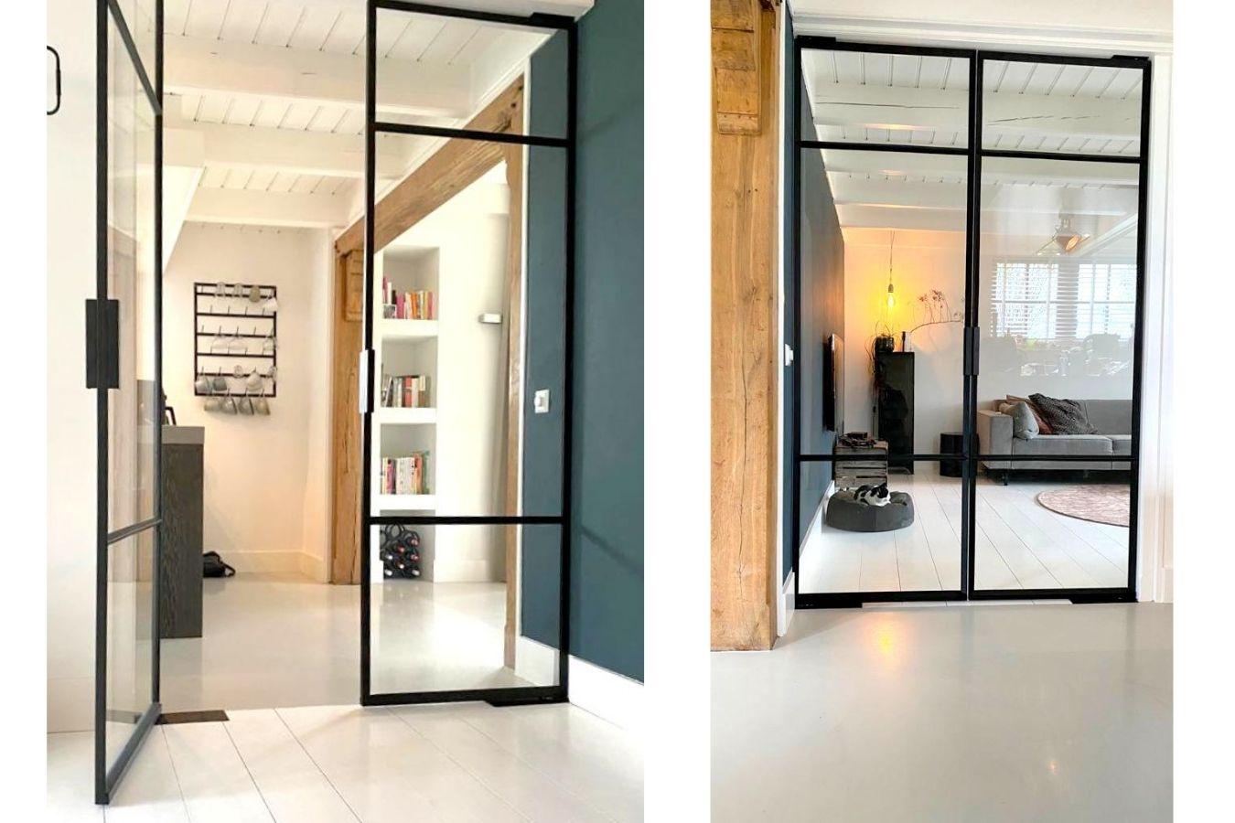 stalen taatsdeuren met korte handgreep - project hoogwoud - StalenDeurenHuys