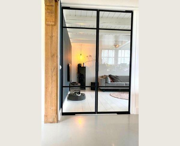 taatsdeur met korte handgreep, stalen deur, project Hoogwoud, StalenDeurenHuys
