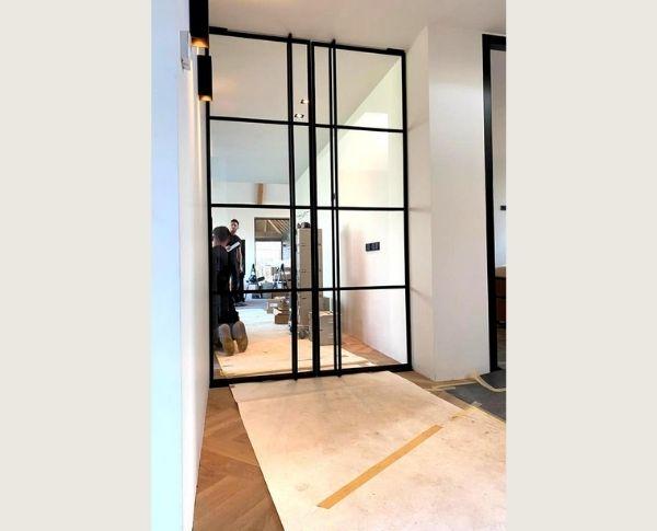 dubbele taatsdeuren op maat, project Budel, StalenDeurenHuys