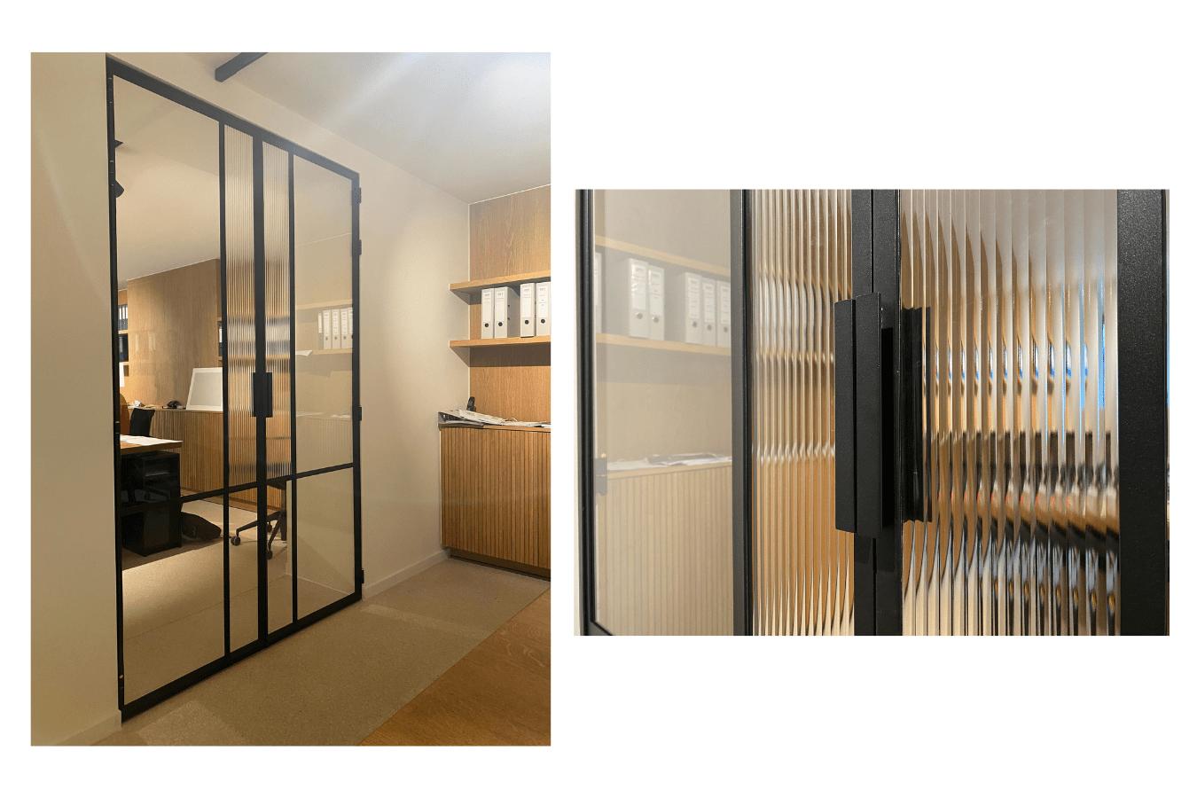 minimalistische stalen taatsdeuren in luxewoning