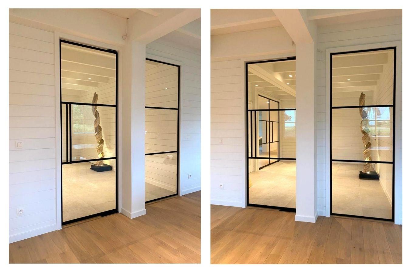 stalen binnendeuren Leuven   schrijnwerk pivotdeuren   stalen deuren op maat